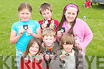 COMMUNITY: After they completed their race at the Ballyheigue Community Games on Sunday, presented with their medals were Mia Duggan, Darren Stack, Ruaidhri Duggan, Emma O'Connor, David Kissane and Rachel O'Sullivan..