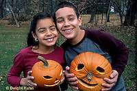 HS24-214z  Pumpkin - children with jack-o-lanterns