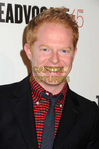 Jesse Tyler Ferguson.The Advocate 45th Benefiting The Point Foundation held at the Beverly Hilton Hotel, Beverly Hills, California, USA..March 29th, 2012.headshot portrait black red gingham shirt tie smiling .CAP/ADM/BP.©Byron Purvis/AdMedia/Capital Pictures.