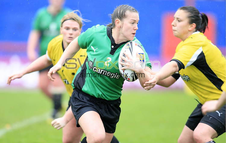 Pix: Chris Mangnall/SWpix.com, Women's Rugby League, Carnegie Super 4 2010 @ Hearwell Stadium Wakefield 25/04/10 ....picture copyright>>Simon Wilkinson>>07811267 706>>.... Green v Yellow