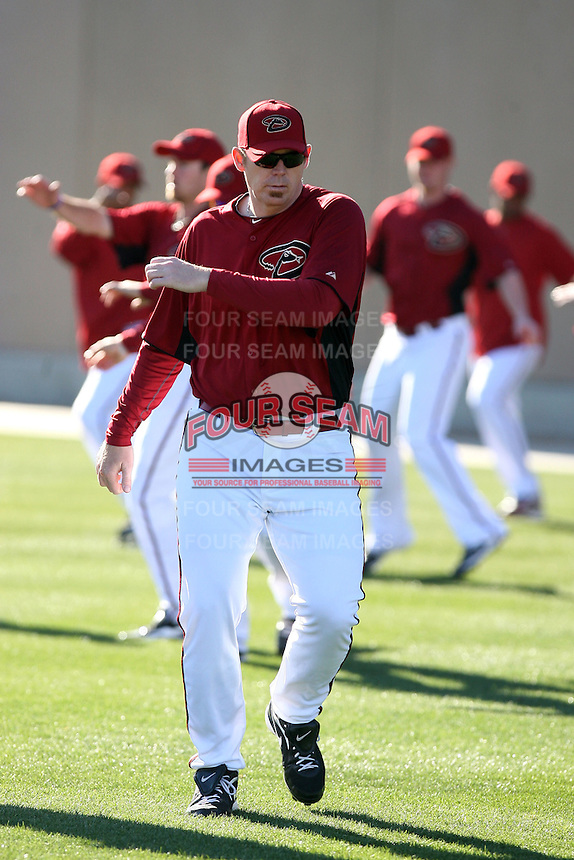 J.J. Putz, Arizona Diamondbacks 2011 spring training workouts at the Diamondbacks new training complex at Salt River Fields at Talking Stick, Scottsdale, AZ - 02/14/2011.Photo by:  Bill Mitchell/Four Seam Images.
