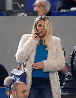 Calcio, Serie A:  Roma vs Palermo. Roma, stadio Olimpico, 21 febbraio 2016. <br /> Ilary Blasi, wife of Roma&rsquo;s Francesco Totti, arrives on the stand for the Italian Serie A football match between Roma and Palermo at Rome's Olympic stadium, 21 February 2016.<br /> UPDATE IMAGES PRESS/Riccardo De Luca