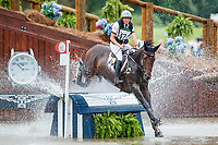 BEL-Karin Donckers rides Fletcha Van't Verahof during the Cross Country for the FEI World Team and Individual Eventing Championship. 2018 FEI World Equestrian Games Tryon. Saturday 15 September. Copyright Photo: Libby Law Photography
