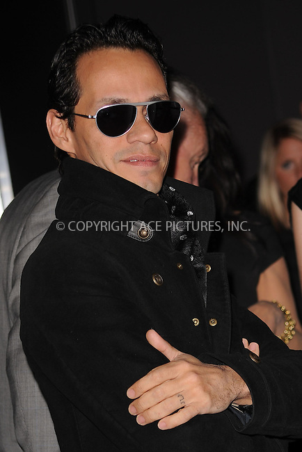 WWW.ACEPIXS.COM . . . . . ....January 20 2010, New York City....Singer Marc Anthony arriving at the launch party for Scott Barnes' 'About Face' book at Provocateur at The Hotel Gansevoort on January 20, 2010 in New York City.....Please byline: KRISTIN CALLAHAN - ACEPIXS.COM.. . . . . . ..Ace Pictures, Inc:  ..tel: (212) 243 8787 or (646) 769 0430..e-mail: info@acepixs.com..web: http://www.acepixs.com