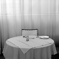 A table laid for dinner at the Courtly Hotel in Yeoville.