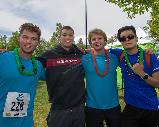 """The """" Quads of Fury"""" team at the 2019 Reno Tahoe Odyssey start at Wingfield park in Reno on May 31, 2019."""