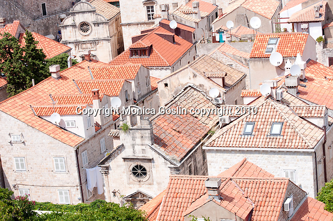The red rooftops of Dubrovnik, Croatia.