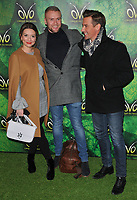 Candice Brown, Liam Macaulay and Matt Evers at the OVO by Cirque du Soleil press night, Royal Albert Hall, Kensington Gore, London, England, UK, on Wednesday 10 January 2018.<br /> CAP/CAN<br /> &copy;CAN/Capital Pictures