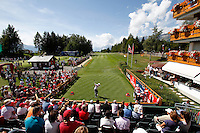 Matteo Monassero (ITA) on the 1st day of the Omega European Masters, Crans-Sur-Sierre, Crans Montana, Switzerland..Picture: Golffile/Fran Caffrey..