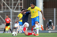 Douglas Luiz of Brazil in action during France Under-18 vs Brazil Under-20, Tournoi Maurice Revello Football at Stade d'Honneur Marcel Roustan on 5th June 2019