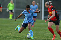 Piscataway, NJ, May 7, 2016.  Sky Blue FC forward Maya Hayes (5).  Sky Blue FC took on the Western New York Flash during a National Women's Soccer League (NWSL) match at Yurcak Field.