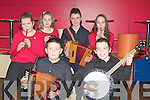 INSTRUMENTS: Enjoying playing their music at the Ceol an Gheimhridh Finals, up at The North Campus IT Tralee on Saturday were the Kilcummin Group, Front l-r: Stephen O'Leary and Dean Griffin. Back l-r: Fionnuala Murray, Niamh McSweeney, paudie O'Connor and Sorcha Brosnan..................... ..........