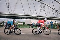 Jasper Stuyven (BEL/Trek-Segafredo) & Huub Duyn (NED/Veranda's Willems - Crelan)<br /> <br /> 52nd GP Jef Scherens - Rondom Leuven 2018 (1.HC)<br /> 1 Day Race: Leuven to Leuven (186km/BEL)