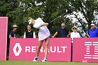 Jesica Korda (USA) tees off the 5th tee during Friday's Round 2 of The Evian Championship 2018, held at the Evian Resort Golf Club, Evian-les-Bains, France. 14th September 2018.<br /> Picture: Eoin Clarke | Golffile<br /> <br /> <br /> All photos usage must carry mandatory copyright credit (&copy; Golffile | Eoin Clarke)