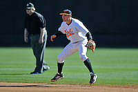 Tennessee Volunteers second baseman Will Maddox #1 during a game against the UNLV Runnin' Rebels at Lindsey Nelson Stadium on February 22, 2014 in Knoxville, Tennessee. The Volunteers defeated the Rebels 5-4. (Tony Farlow/Four Seam Images)