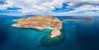 aerial view of Isla San Francisquito, La Paz, Baja California Sur, Mexico, Gulf of California, Sea of Cortez, Pacific Ocean