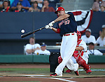 Memphis' Brock Peterson competes in the Triple-A All Star Home Run Derby in Reno, Nev., on Monday, July 15, 2013. Peterson hit a total of 11 home runs in the event, but came up short in the final round to take second place.<br /> Photo by Cathleen Allison