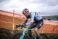 Wout van Aert (BEL)<br /> <br /> Men's Elite race<br /> UCI 2020 Cyclocross World Championships<br /> Dübendorf / Switzerland<br /> <br /> ©kramon