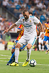 Real Madrid's Karim Benzema during La Liga match between Real Madrid and Valencia CF at Santiago Bernabeu Stadium in Madrid, Spain August 27, 2017. (ALTERPHOTOS/Borja B.Hojas)