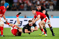 1st November 2019, Tokyo, Japan;  Sam Cane (NZL) dives past Welsh defenders  2019 Rugby World Cup 3rd place match between New Zealand 40-17 Wales at Tokyo Stadium in Tokyo, Japan.  - Editorial Use