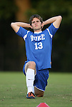 11 October 2009: Duke's Austin McDaniel. The Duke University Blue Devils defeated the University of North Carolina Greensboro Spartans 3-0 at Koskinen Stadium in Durham, North Carolina in an NCAA Division I Men's college soccer game.