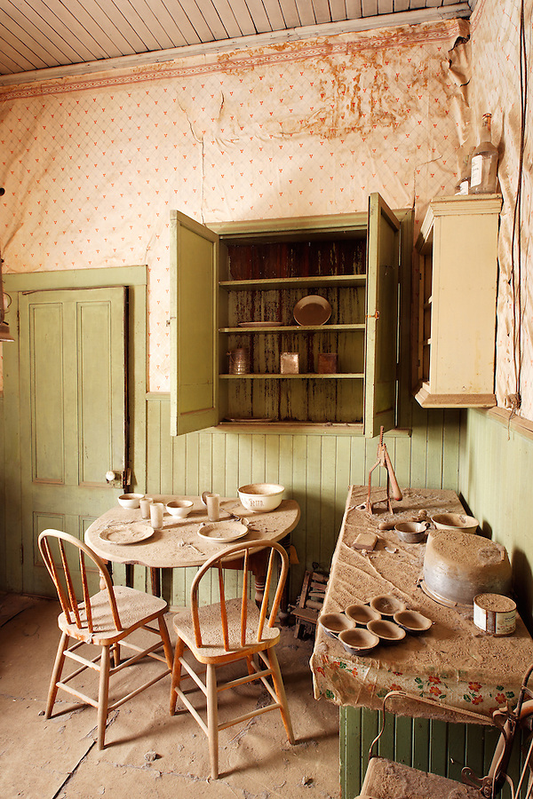Kitchen in Tom Miller House, Bodie State Historic Park, California, USA