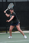 SAN DIEGO, CA - APRIL 25:  Anna Chikhikvishvili of the Saint Marys Gaels during the WCC Tennis Championships at the Barnes Tennis Center on April 25, 2010 in San Diego, California.