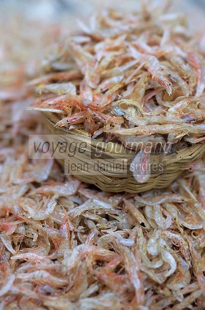 Asie/Inde/Maharashtra/Bombay: Sassoon Docks - Le marché aux poissons - Crevettes séchées utilisées pour les pickles