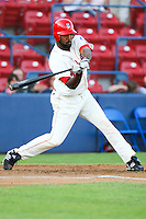 July 20th 2008:  Joey Butler of the Spokane Indians, Short Season Class-A affiliate of the Texas Rangers, during a game at Home of the Avista Stadium in Spokane, WA.  Photo by:  Matthew Sauk/Four Seam Images
