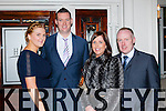 Rachel O'Reilly, Denis Reen, Karen Cooper and Kevin Myers having fun at the Fossa GAA social in the Killarney Avenue Hotel on Friday night