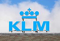 Nederland - Amsterdam -  Februari 2019. KLM logo op een dak.  Foto Berlinda van Dam / Hollandse Hoogte