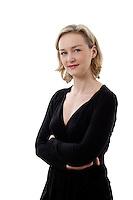 Marie-Charlotte Heliot pendant la journée de la femme, Paris, le 8 mars 2012. Photo : Lucas Schifres/Pictobank