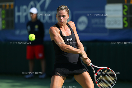 Camila Giorgi (ITA), .OCTOBER 9, 2012 - Tennis : .HP Japan Women's Open Tennis 2012, .Women's Singles first round match .at Utsubo Tennis Center, Osaka, Japan. .(Photo by Akihiro Sugimoto/AFLO SPORT) [1080]