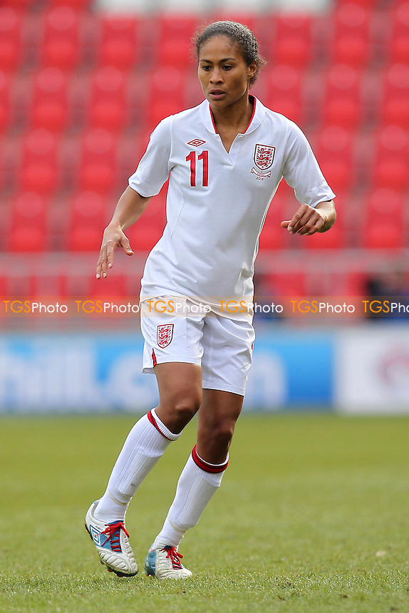 Rachel Yankey of England - England Women vs Canada Women - International Football Friendly Match at the New York Stadium, Rotherham United FC - 07/04/13 - MANDATORY CREDIT: Gavin Ellis/TGSPHOTO - Self billing applies where appropriate - 0845 094 6026 - contact@tgsphoto.co.uk - NO UNPAID USE.