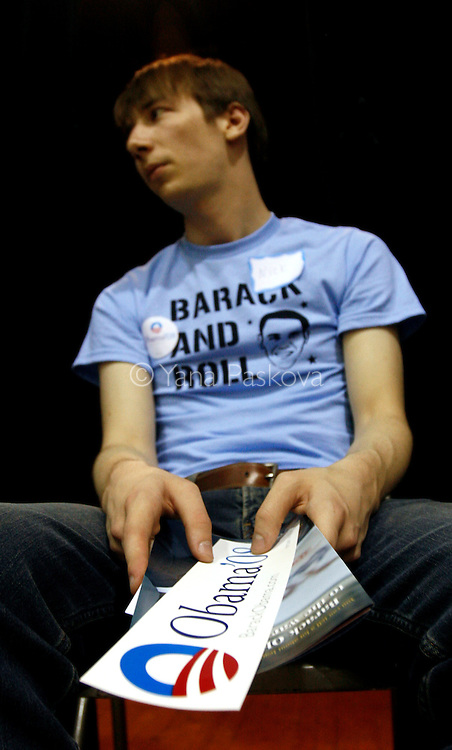 Democratic Presidential hopeful Barack Obama (D-IL) campaigns in Elkadur, IA, on July 14, 2007.