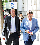 The president of Ciudadanos , Albert Rivera walks infront of the headquarters of the Partido Popular May 31,2016. (ALTERPHOTOS/Rodrigo Jimenez)