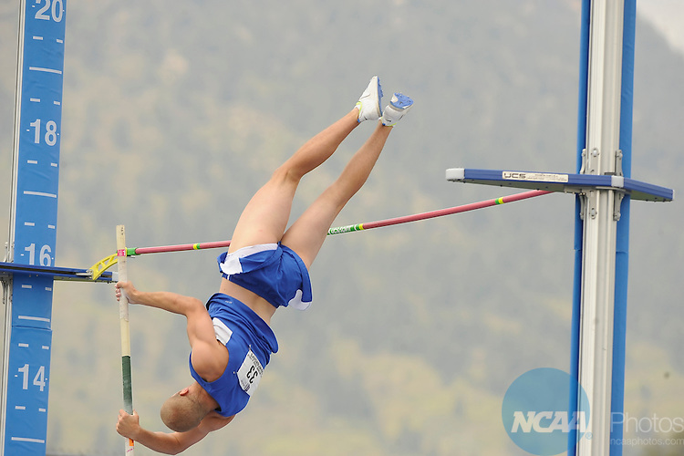 12 MAY 2012: Athletes compete during Mountain West Conference Men's and Women's Outdoor Track Championship held at the Cadet Outdoor Track and Field Complex on the campus of US Air Force Academy in Colorado Springs, CO. Jerilee Bennett /NCAA Photos