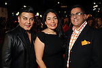 From left: Edward Sanchez, Enid Sanchez and Roland Maldonado on the red carpet at Fashion Houston at the Wortham Theater Friday  Nov.15,2013.  (Dave Rossman photo)