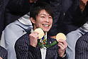Kohei Uchimura (JPN), <br /> AUGUST 24, 2016 : <br /> Japan Delegation attend a press conference after arriving in Tokyo, Japan.<br /> Japan won 12 gold medals, 8 silver medals, and 21 bronze medals during the Rio 2016 Olympic Games.<br /> (Photo by Sho Tamura/AFLO SPORT)