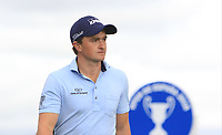 Paul Dunne (IRL) on the 17th tee during Round 4 of the Open de Espana 2018 at Centro Nacional de Golf on Sunday 15th April 2018.<br /> Picture:  Thos Caffrey / www.golffile.ie<br /> <br /> All photo usage must carry mandatory copyright credit (&copy; Golffile | Thos Caffrey)