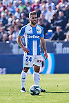 Kevin Rodrigues of CD Leganes during La Liga match between CD Leganes and Real Betis Balompie at Butarque Stadium in Leganes, Spain. February 16, 2020. (ALTERPHOTOS/A. Perez Meca)