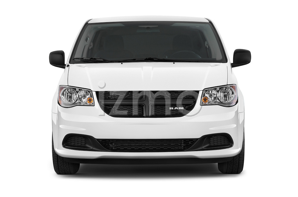 Car photography straight front view of a 2014 Ram Ram Cargo Van Tradesman 4 Door Cargo Van Front View
