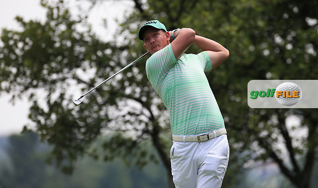 Jacques Kruyswuk (RSA) plays down the 4th on the West Course during Round 2 of the 2016 Joburg Open Celebrating 10 years, played at the Royal Johannesburg and Kensington Golf Club, Gauteng, Johannesburg, South Africa.  15/01/2016. Picture: Golffile | David Lloyd<br /> <br /> All photos usage must carry mandatory copyright credit (&copy; Golffile | David Lloyd)