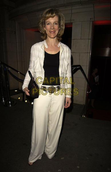 JULIET STEVENSON.The Royal Court Theatre 50th Anniversary Gala Party, Titanic Nightclub, London, UK..April 26th, 2006.Ref: CAN.full length Juliette white trousers jacket black purse.www.capitalpictures.com.sales@capitalpictures.com.©Capital Pictures