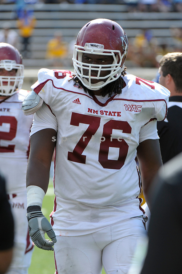 AUNDRE MCGASKEY, of the New Mexico State Aggies, in action during New Mexico's game against the San Jose State Spartans on September 24, 2011 at Spartan Stadium in San Jose, CA. San Jose beat New Mexico 34-24.