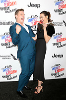 LOS ANGELES - MAR 3:  Billy Magnussen, Aubrey Plaza_ at the 2018 Film Independent Spirit Awards at the Beach on March 3, 2018 in Santa Monica, CA