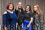Supporting the Shaws Department Store Fashion Show in aid of Kerry Hospice in the Rose Hotel on Thursday night. <br /> L-r, Mags Kissane (MC), Lisa Martin (Tralee), Jennifer Kissane (Tralee) and Kelsee Moore (Tralee).