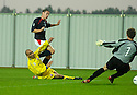 10/08/2004   Copyright Pic: James Stewart.File Name : jspa02_falkirk_v_montrose.DARRYLL DUFFY SCORES FALKIRK'S FIRST.Payments to :.James Stewart Photo Agency 19 Carronlea Drive, Falkirk. FK2 8DN      Vat Reg No. 607 6932 25.Office     : +44 (0)1324 570906     .Mobile  : +44 (0)7721 416997.Fax         :  +44 (0)1324 570906.E-mail  :  jim@jspa.co.uk.If you require further information then contact Jim Stewart on any of the numbers above.........