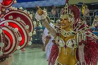 RIO DE JANEIRO (RJ) 29.02.2020 - Carnaval - Rio Escola de samba Viradouro no desfile das campeas das escolas de samba do Grupo Especial do Rio de Janeiro neste sabado (29) na Marquues de Sapucai. Destaque Lorena Improta. (Foto: Ellan Lustosa/Codigo 19/Codigo 19)