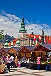 Kiermasz na rynku w Pszczynie, Polska<br /> Fair on the marketplace in Pszczyna, Poland